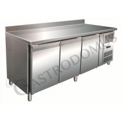 Gastronorm-Kühltisch – 3 Türen – Tiefe 700 mm – Aufkantung – Temperatur -2 °C/ +8 °C