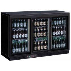 Getränkekühltisch – Umluftkühlung – 3 Schiebetüren – 335 L – Temperaturbereich + 2 °C / + 8 °C