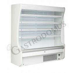 Oscar Wandkühlregal mit Umluftkühlung – Nachtvorhang manuell – Länge 1000 mm – Temperaturbereich + 3°C / + 10°C