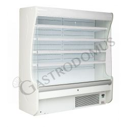 Oscar Wandkühlregal mit Umluftkühlung – Nachtvorhang manuell – Länge 1310 mm – Temperaturbereich + 3°C / + 10°C