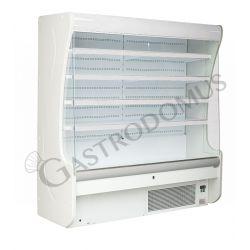 Oscar Wandkühlregal mit Umluftkühlung – Nachtvorhang manuell – Länge 2540 mm – Temperaturbereich + 3°C / + 10°C