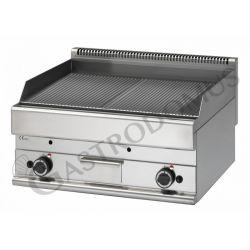 Elektro Grillplatte – verchromt – 2 Kochzonen – Tischgerät – dreiphasig – 9000 W – Serie 650