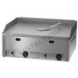Bratplatte – Tischgerät – Gas – glatt & gerillt – doppelt – verchromt – Leistung 8000 W
