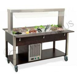 Fischtheke – Kaltbuffet – Salatbar – Temperaturen +4°/+10°C