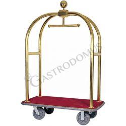 Kofferwagen – Kleiderständer – Messing Stahl – Länge 124 cm