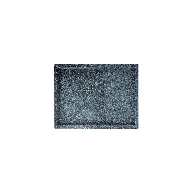 Backblech – quadratisch – emaillierter Edelstahl – GN2/1 – 650 mm x 530 mm x 40 mm