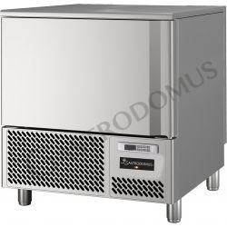Schnellkühler aus Edelstahl – Vorrichtung für 5 GN1/1 Bleche oder 5 Tragroste 600 mm x 400 mm