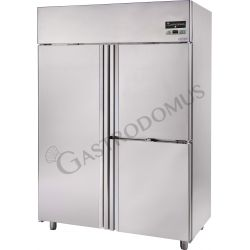 Kühlschrank mit Umluftkühlung aus Edelstahl – 3 Türen – 1200 L – Temperaturbereich 0°C / + 10°C