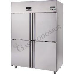 Kühlschrank mit Umluftkühlung aus Edelstahl – 4 Türen – 1200 L – Temperaturbereich 0°C / + 10°C