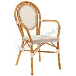 Love Stuhl – Aluminium – lackiert – Bambus – Sitzfläche & Rückenlehne – Textilene