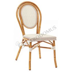 Lovely Stuhl – Aluminium – lackiert – Bambus – Sitzfläche & Rückenlehne – Textilene