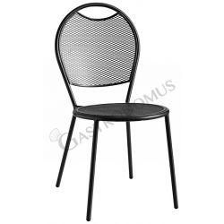 Agile Stuhl – Struktur – Sitzfläche & Rückenlehne – Stahl – lackiert