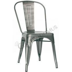 Glossy Stuhl – Struktur – Sitzfläche & Rückenlehne – Metall – lackiert – transparent