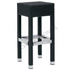 Cube Tresenhocker – Struktur – Aluminium – Polyethylendrahtabdeckung