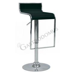 Quadro Tresenhocker – Struktur – verchromter Stahl – Sitz & Rückenlehne – ABS