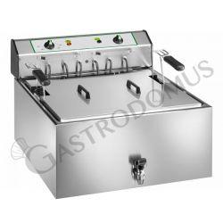 Tischfritteuse – elektrisch – 1 Becken – Kapazität 25 L – 9000 W