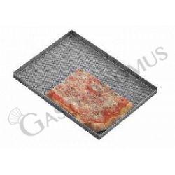Pizzablech – Edelstahl – perforiert – 36 x 50 cm – Serie Giotto