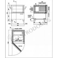Schnellkühler aus Edelstahl – Vorrichtung für 5 GN1/1 Bleche