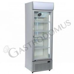 Getränkekühlschrank – Leuchtaufsatz – Umluftkühlung – 350 L– Temperaturbereich + 1 °C / + 10 °C