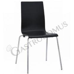 Lube Stuhl – Struktur – Metall – verchromt – Sitzfläche & Rückenlehne – Polypropylen