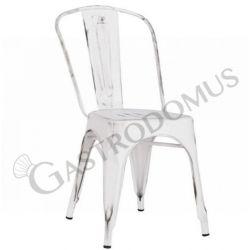 Piper Stuhl – Struktur – Sitzfläche & Rückenlehne – Metall – lackiert