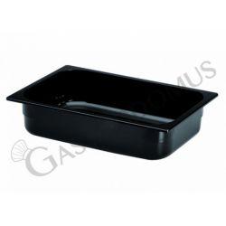 Eisbehälter aus schwarzem Polycarbonat – Tiefe 165 mm