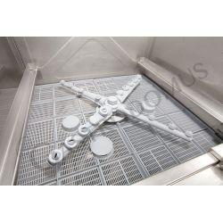 Geschirrspülmaschine – elektronisch – dreiphasig – Korb 50x50cm – Einschubhöhe 32cm – Reinigerdosierer – Klarspüldosierer