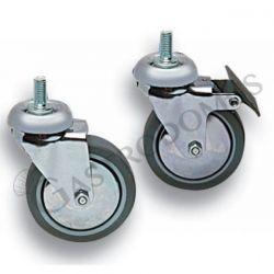Räder mit Bremse für Trolleys