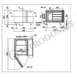 Schnellkühler aus Edelstahl – Vorrichtung für 3 GN2/3 Bleche