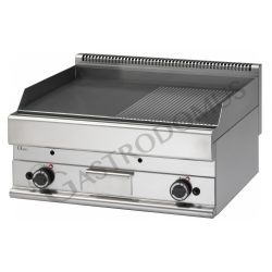 Gas Bratplatte – Tischgerät – glatt + gerillt – 11400 W – Serie 650