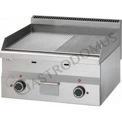 Elektro Bratplatte – verchromt – glatt + gerillt – Tischgerät – dreiphasig – 6000 W – Serie 600