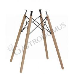 Tischgestell – Holz – Metall – lackiert – Bauhöhe 72 cm
