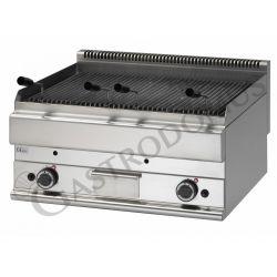 Gas Lavasteingrill – Tischgerät – 2 Kochzonen – Tiefe 650 mm