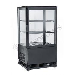 Getränkekühlschrank – schwarz – Umluftkühlung – 58 L– Temperaturbereich 0°C / + 12 °C