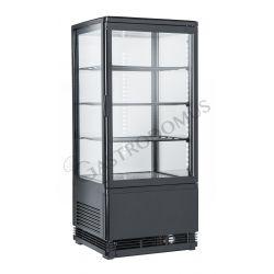 Getränkekühlschrank – schwarz – Umluftkühlung – 78 L– Temperaturbereich 0°C / + 12 °C