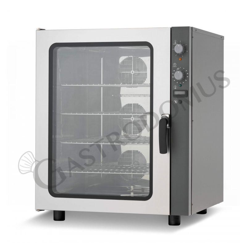 Bäckerei Heißluftofen – Beschwadungs-Taste – dreiphasig – mechanische Steuerung – 10 Tragroste 600x400 mm