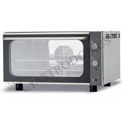 Bäckerei Heißluftofen – Kipptür – Beschwadungs-Taste – einphasig – mechanische Steuerung – 3 Tragroste 600x400 mm