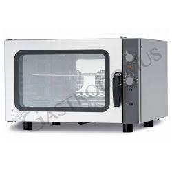 Bäckerei Heißluftofen – Beschwadungs-Taste – einphasig – mechanische Steuerung – 4 Tragroste 600x400 mm