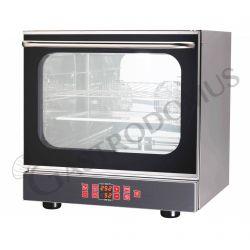 Elektro Heißluftofen – Beschwadungs-Taste – Grillfunktion – digitales Bedienfeld – 4 Tragroste GN2/3