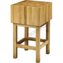 Hackblock – Holz – Stärke 35 cm – Untergestell Maße 50 x 50 x 90 cm