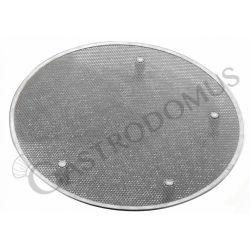 Pizzagitter aus Edelstahl – Aluminium Füße – rund – Durchmesser 45 cm