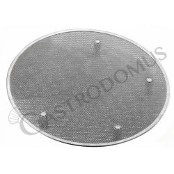 Pizzagitter aus Edelstahl – Aluminium Füße – rund – Durchmesser 50 cm