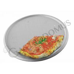 Serviertablett für Pizza – Aluminium – 5 Füße – rund – Durchmesser 50 cm