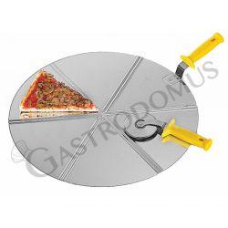 Pizzaheber – Edelstahl – Durchmesser 36 cm – 6 Portionen