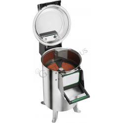 Kartoffelschäler – Standgerät – Seitenschleife – dreiphasig – Kapazität 10 Kg – Leistung 120 Kg/H