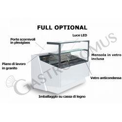 Lola Kühltheke mit statischer Kühlung – full optional – Länge 2040 mm – Temperaturbereich + 3°C / + 10°C