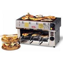 Toaster –  einphasig – 3 Zangen – Glaskeramikplatte – Leistung 3100 W max.