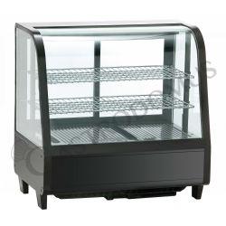Tischkühlvitrine mit Umluftkühlung – Fassungsvermögen 100 L – Neon-Innenbeleuchtung
