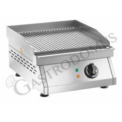 Bratplatte – Tischgerät – gerillt – Leistung 3000 W