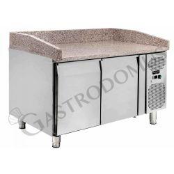 Pizzakühltisch 600 x 400 – 2 Türen – Nutzvolumen 390 L
